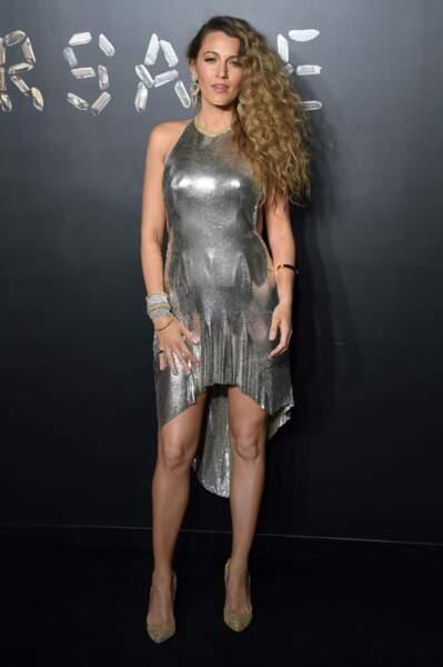 Blake Lively au défilé Versace, le 2 décembre 2018, à New York