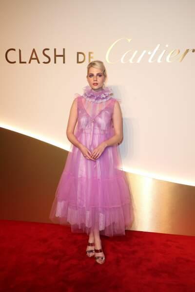 Lucy Boynton au dîner Cartier, le 10 avril 2019 à la Conciergerie de Paris