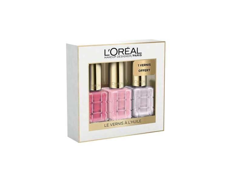 Coffret vernis à l'huile Noël L'Oréal Paris, 17,80€