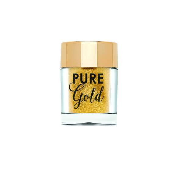 Chocolate Gold : Pure Gold, paillettes ultra-fines visage et corps, Too Faced, 17 euros