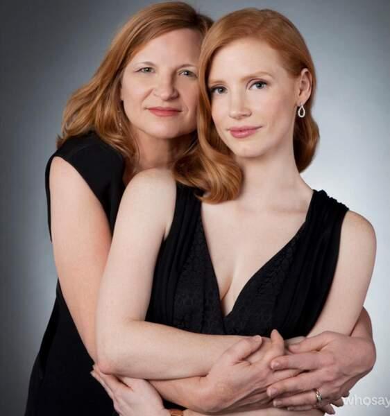 Jessica Chastain et sa mère