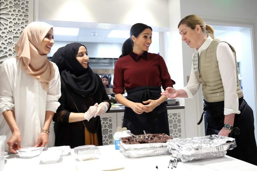 La duchesse de Sussex s'est rendue à la Hubb Community Kitchen le 21 novembre 2018