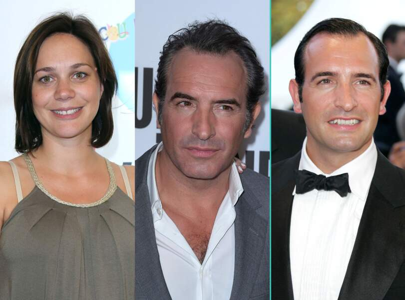 Jean Dujardin aujourd'hui à 43 ans et à 32 ans, l'âge actuel de sa compagne Nathalie Péchalat