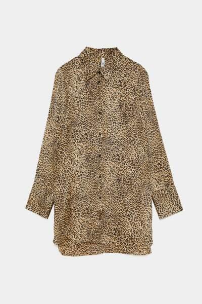 Chemise léopard, Zara, 29,95€