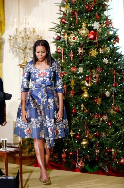 Michelle Obama en Carolina Herrera