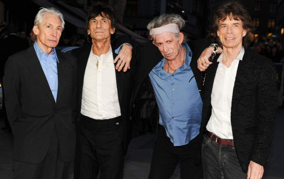 Charlie Watts, Ron Wood, Keith Richards et Mick Jagger