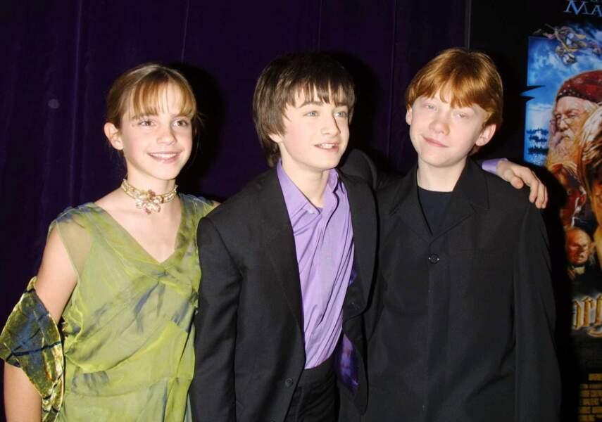Emma Watson, Daniel Radcliffe et Rupert Grint aux débuts de la saga Harry Potter