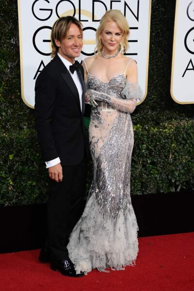 Golden Globes 2017 : Keith Urban and Nicole Kidman (en Alexander McQueen) (bof)