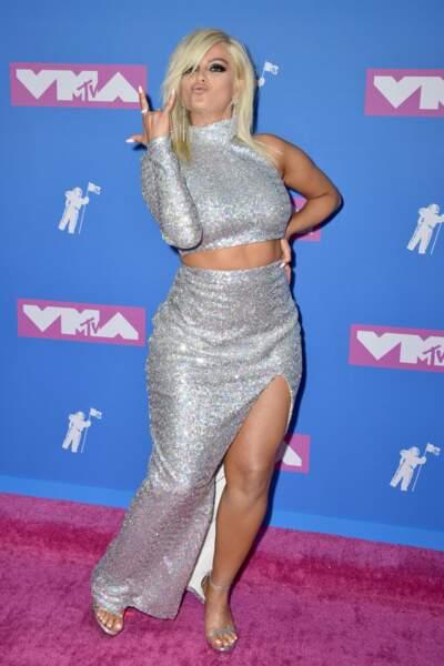 Bebe Rexha aux MTV Video Music Awards 2018, le 20 août, à New York
