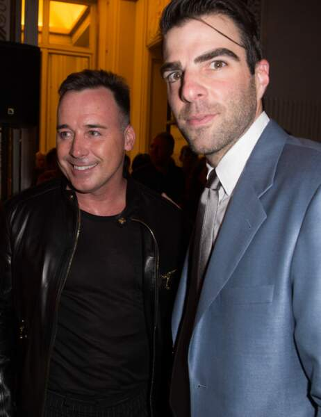 David Furnish et Zachary Quinto