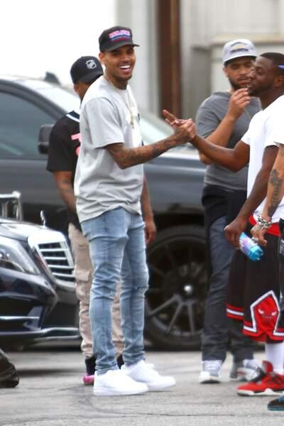 Chris Brown, grand ami de Tyga, ne pouvait pas manquer ça