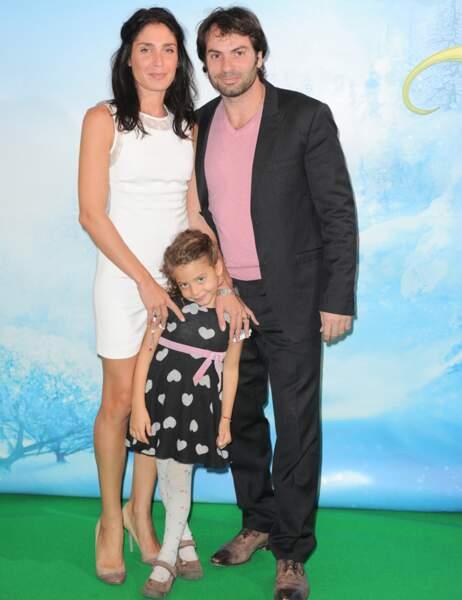 Christophe Dominici, son épouse Lauretta et leur fille