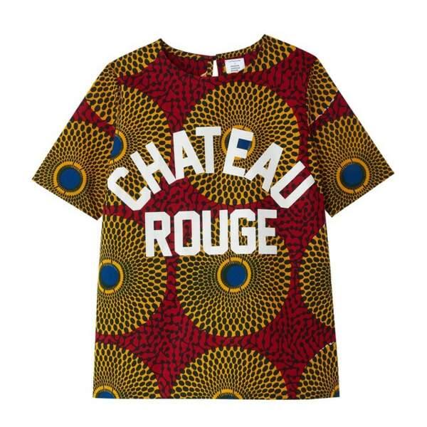 Blouse imprimée manches courtes, La Redoute x Maison Château Rouge, 39€
