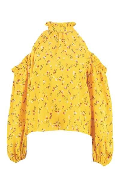 Micro volants épaules dénudées et fleurs au bout Grace, Boohoo, 32€