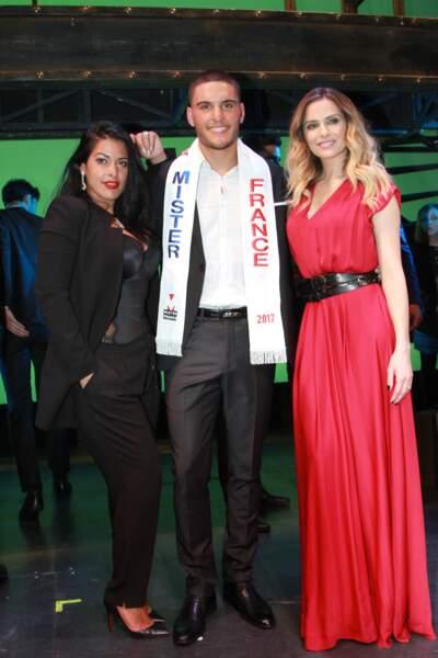 Élection Mister France 2017 : Ayem Nour, Eloy Pechier et Clara Morgane