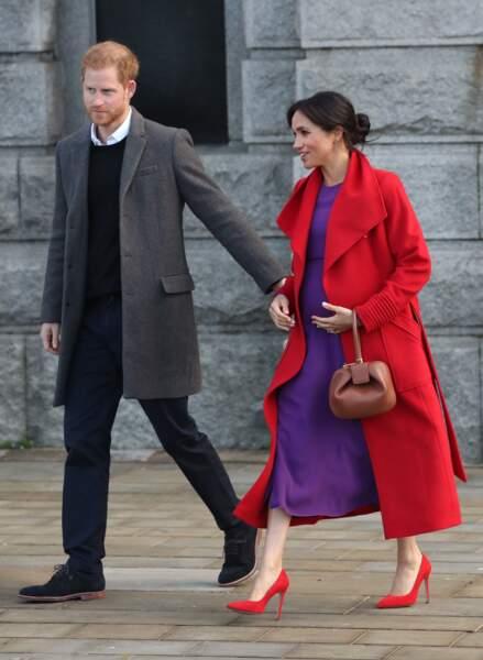 Meghan Markle et le prince Harry en visite à Birkenhead