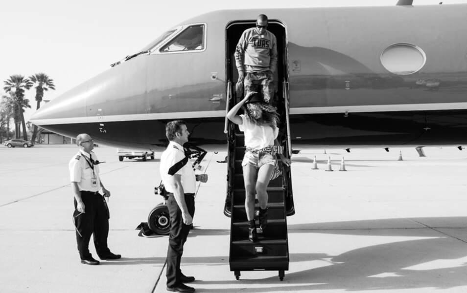 Beyoncé et Jay-Z arrivent à Coachella, en jet, tout simplement