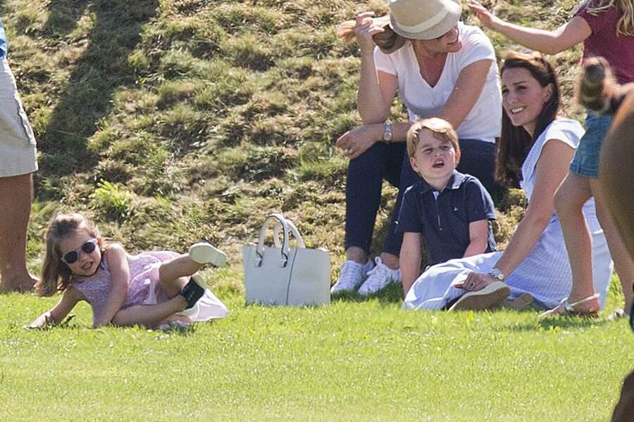 Kate Middleton, le prince George et la princesse Charlotte