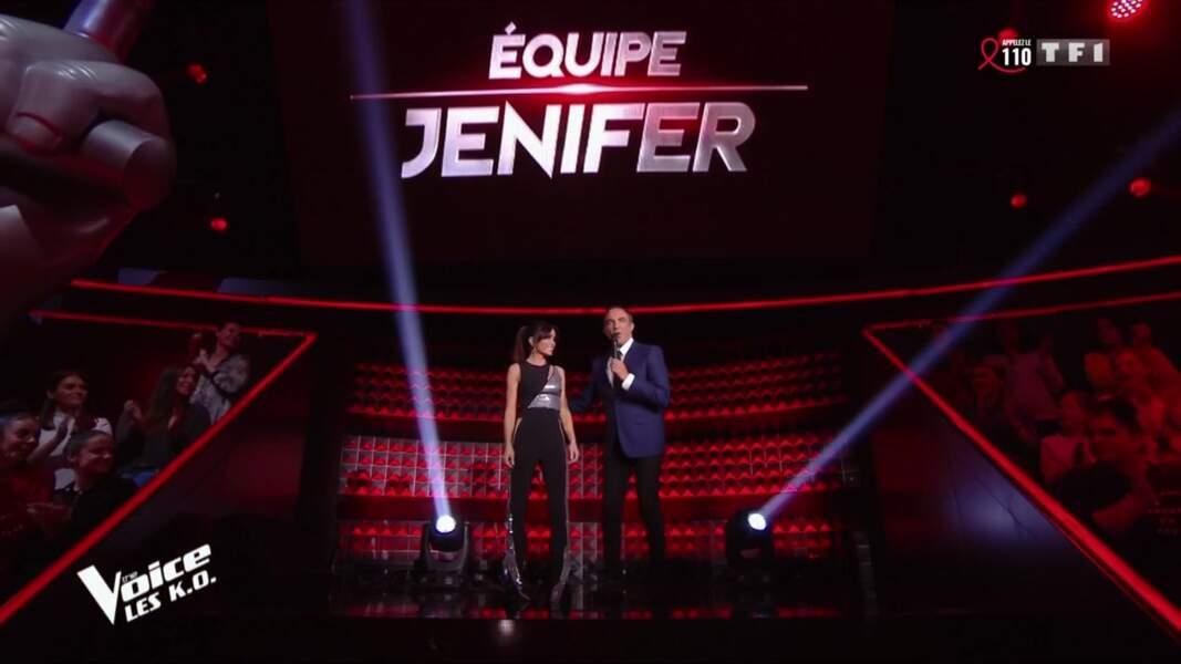 Jenifer sur le plateau de The Voice