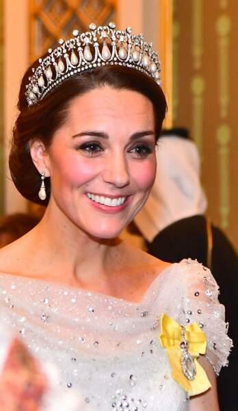 Kate Middleton avec la tiare favorite de Lady Di