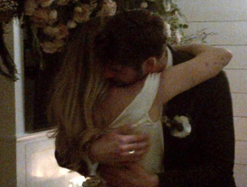 Miley Cyrus et Liam Hemsworth le jour de leur mariage