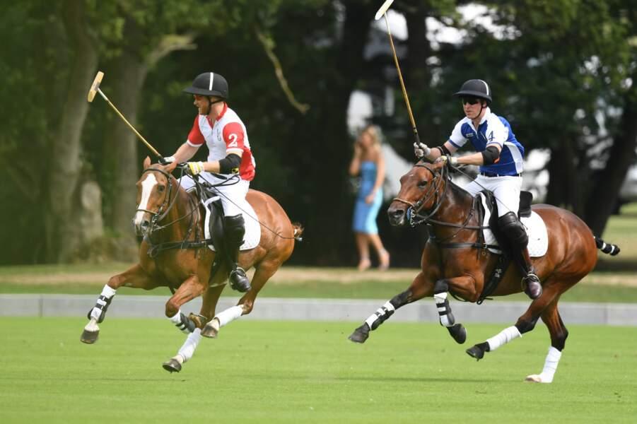 Harry et William au polo