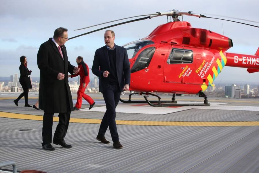 Il était invité Royal London Hospital pour un anniversaire important