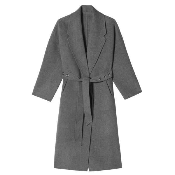 Caroline Receveur x Morgan : manteau peignoir ceinture à oeillets, 230 euros