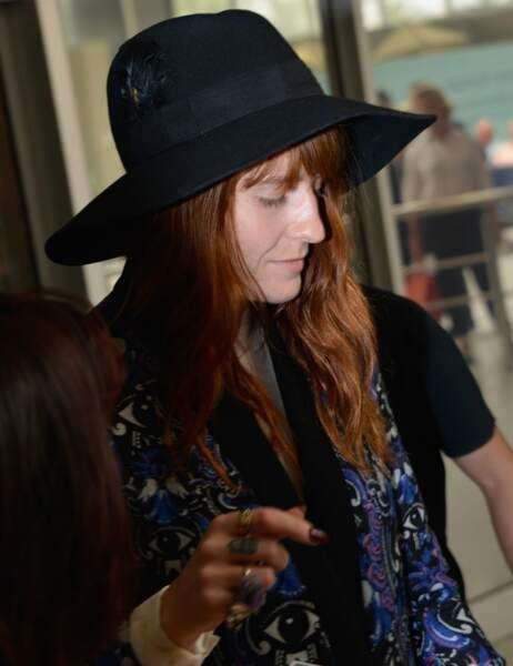 La chanteuse américaine Florence Welch de Florence + The Machine