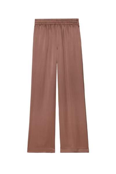 Pantalon large en satin, J Brand, 375 euros