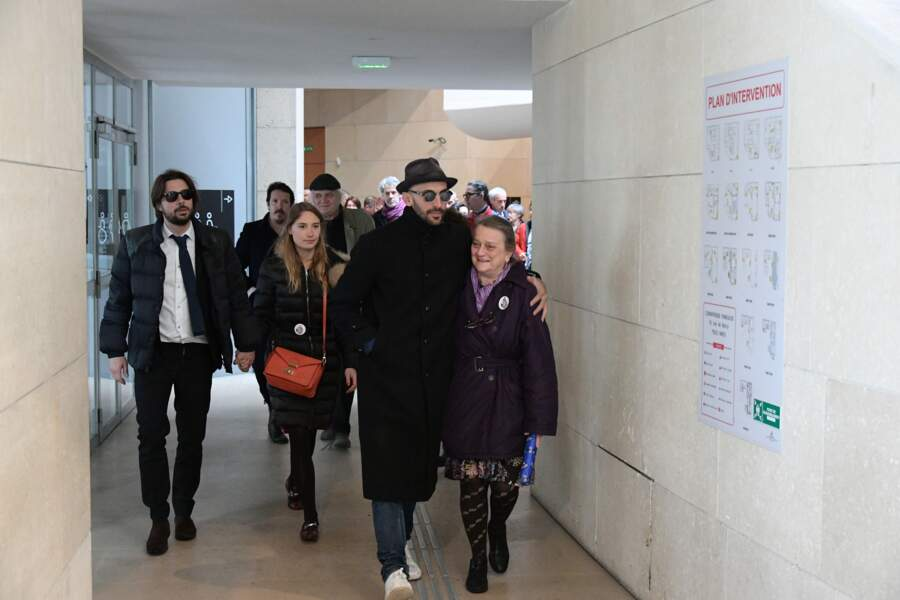 JR à l'hommage à Agnès Varda