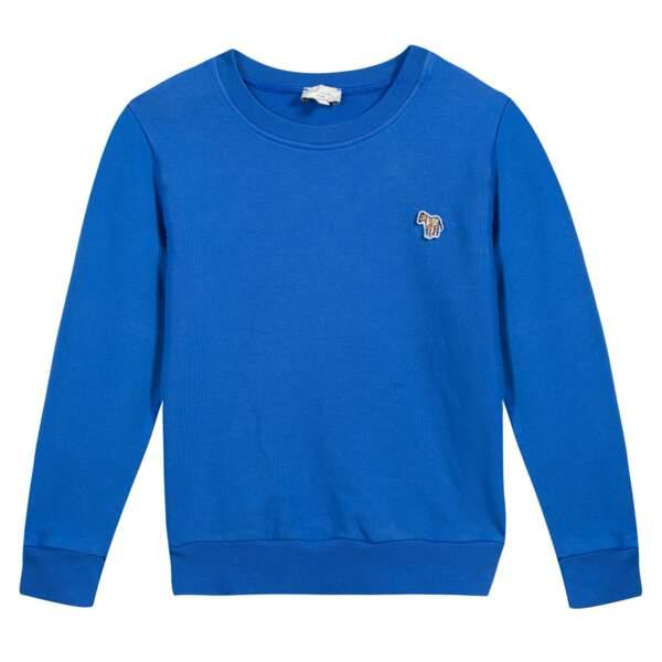 Sweatshirt. 95% coton, 5% élasthanne, à partir de 85 €, Paul Smith Junior