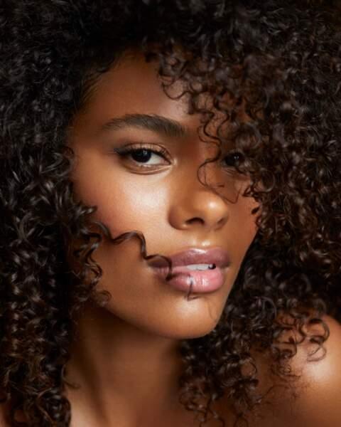 Tina Kunakey, maquillée par le make-up artist Harold James