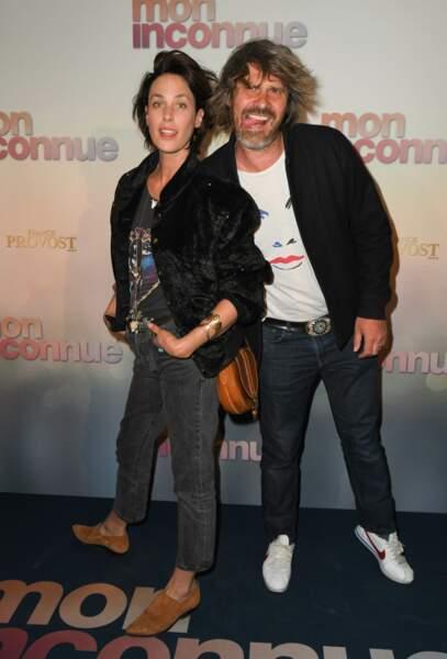 Julie Fournier et Benjamin Seznec à l'avant-première de Mon Inconnue, le 1er avril, à Paris