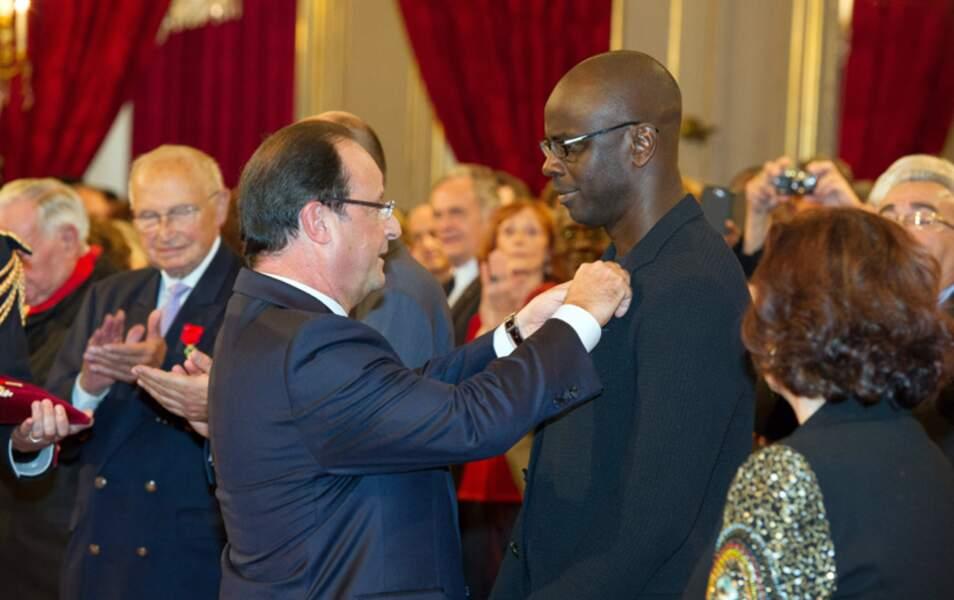 Lilian Thuram et François Hollande