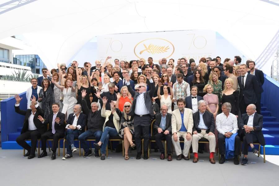 Cannes 2017 : 113 stars posent ensemble pour un incroyable cliché fêtant les 70 ans du Festival <3
