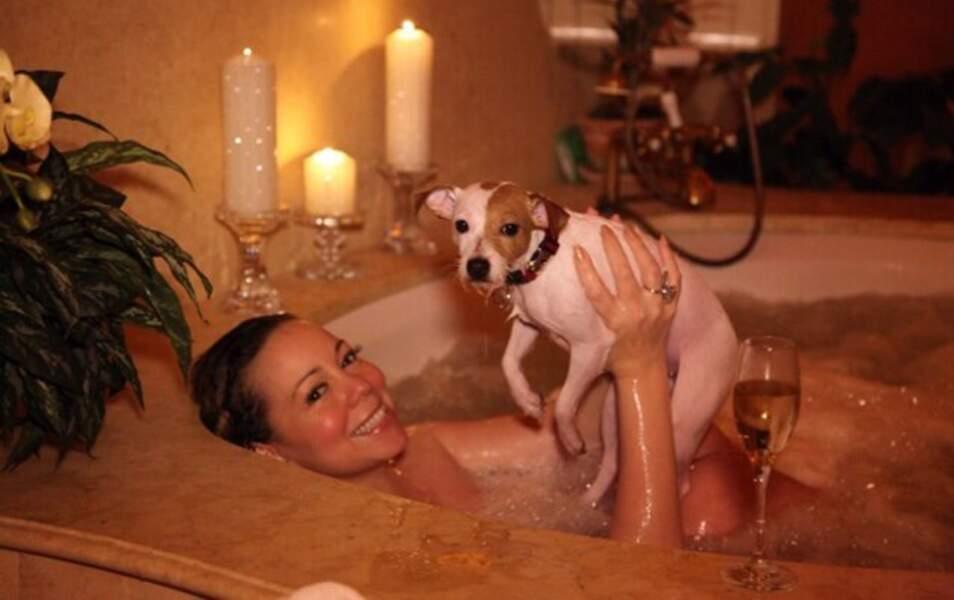 Mariah Carey et son chien