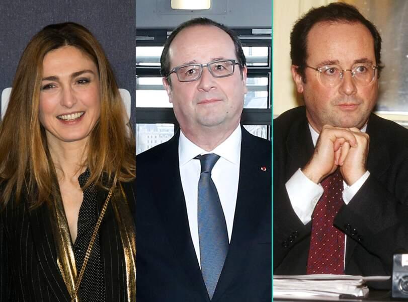 François Hollande aujourd'hui à 62 ans et à 43 ans, l'âge actuel de sa compagne Julie Gayet