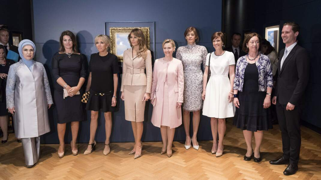 En marge du sommet de l'OTAN à Bruxelles, le 25 mai 2017, Brigitte Macron avait été moquée pour son look