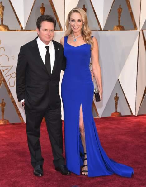Les plus beaux couples des Oscars 2017 : Michael J. Fox et Tracy Pollan