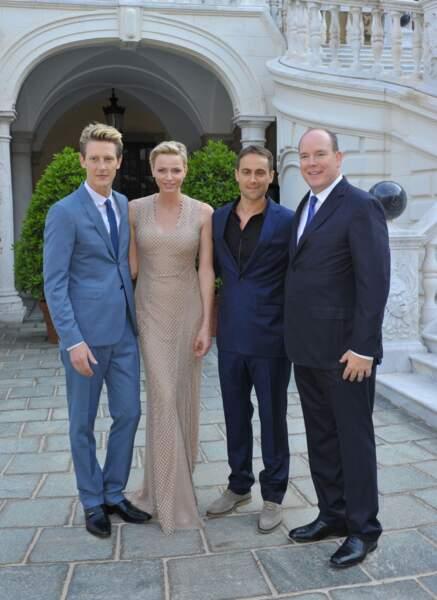Gabriel Mann, la Princesse Charlène, Stuart Townsend et le Prince Albert