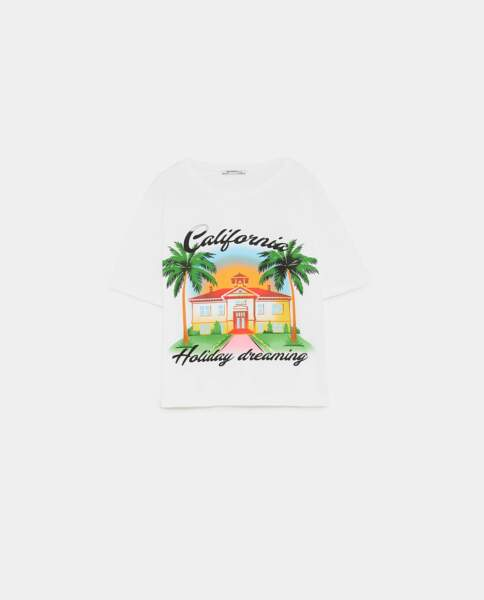 T-shirt California Dreaming, Zara, 9,95 euros