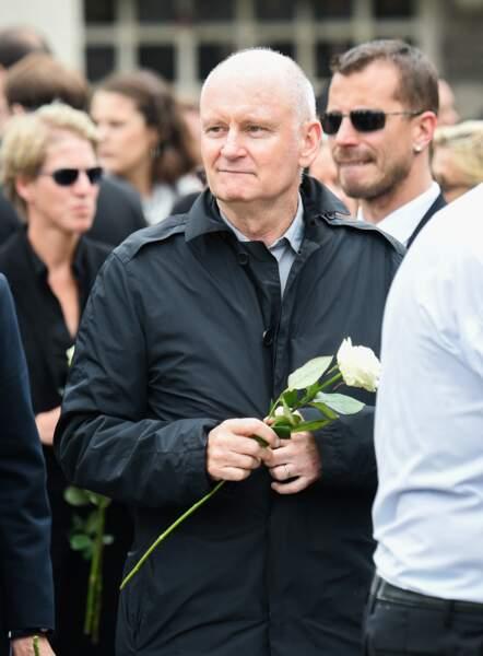 Christophe Girard aux obsèques de Christophe Michel