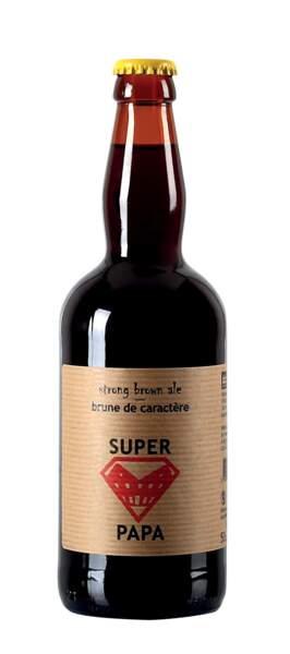 Bière Super Papa. 50 cl, 3,29 €, Lidl France (l'alcool est dangereux pour la santé. A consommer avec modération)