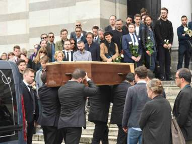 PHOTOS Obsèques de Christophe Michel : Jean-Luc Romero pleure son mari, soutenu par Valérie Trierweiler et Olivier Minne