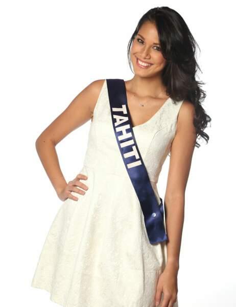 Miss Tahiti - Mehiata Riaria, 22 ans, 1m78