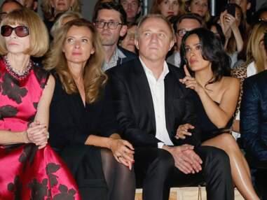 Valérie Trierweiler et Salma Hayek au défilé Yves Saint Laurent