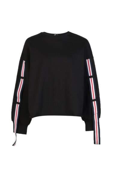 Hallie Athleisure Stripe Sleeve Crew Sweat, Missguided, 14 euros