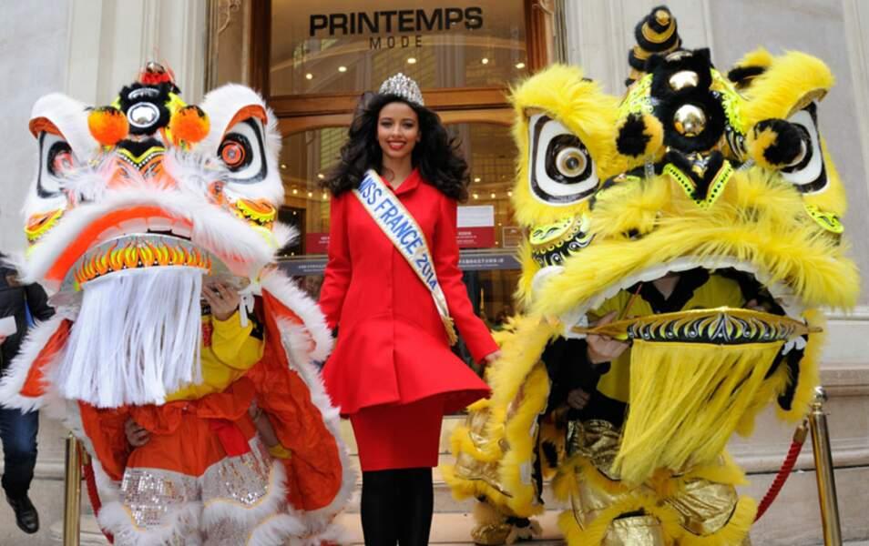 Flora Coquerel, Miss France 2014, fête le Nouvel an chinois