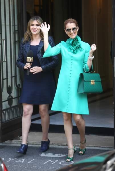 Céline Dion en total look Gucci